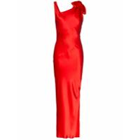Deitas Vestido 'louise' De Seda - Vermelho