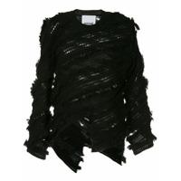 Koché Suéter Assimétrico Com Textura - Preto