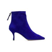 Stuart Weitzman Ankle Boot 'juniper' De Camurça - Azul