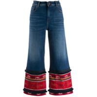 Weekend Max Mara Calça Jeans Cropped Flare - Azul