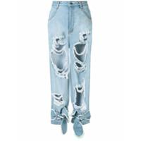 Pony Stone Calça Jeans Marcus Destroyed - Azul