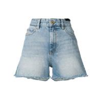 Diesel Short Jeans Com Efeito Desbotado - Preto