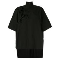 Y's Camisa Com Amarração - Preto