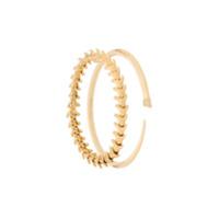 Shaun Leane Conjunto De Pulseiras 'serpent And Signature' De Prata Banhada A Ouro Com Diamantes - Dourado
