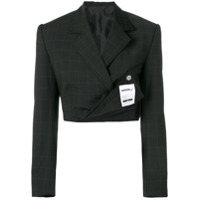 Seen Users Cropped Blazer - Preto