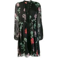 Giamba Vestido Com Estampa Floral - Preto