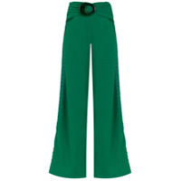 Patbo Calça Pantalona Com Aplicações - Green