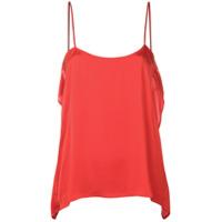 Semicouture Blusa Com Alças Finas - Vermelho