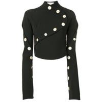 A.w.a.k.e. Mode Blusa Com Botões - Preto