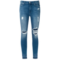 7 For All Mankind Calça Jeans Skinny Destroyed - Azul