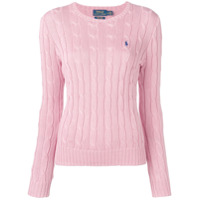 Polo Ralph Lauren Logo Cable Knit Sweater - Rosa