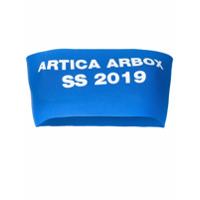 Artica Arbox Top Cropped Com Logo - Azul