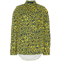 Charm's Camisa Oversized Estampada - Yellow Blue