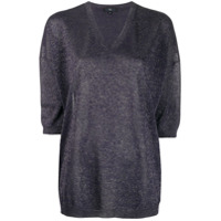 Fay Lurex Knit Sweater - Azul
