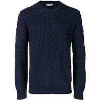 Corneliani Patterned Loose Sweater - Azul