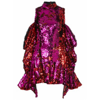 Halpern Vestido Com Paetês - Rosa