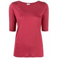 Filippa-K Camiseta Tencel Com Decote U - Rosa