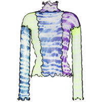 Asai Blusa Tie-Dye Com Recortes - Estampado