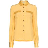 Usisi Camisa Jacquetta Com Botões - Amarelo