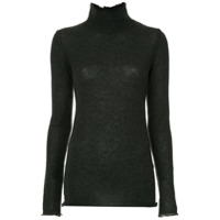R13 Distressed Knitted Sweater - Cinza