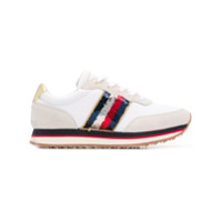 Tommy Hilfiger Sequin Detail Running Sneakers - Branco