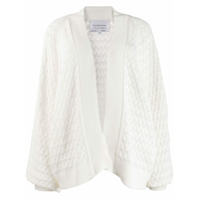 I Love Mr Mittens Balloon Sleeve Cardigan - Branco