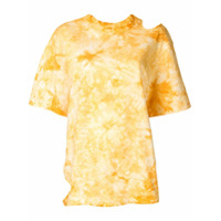 Le Ciel Bleu Camiseta Com Detalhes Vazados - Amarelo