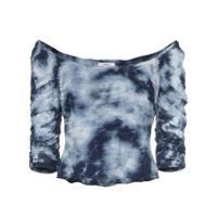 Miaou Blusa Cropped Tie-Dye 'madeline' - Azul