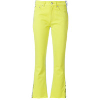 Msgm Calça Jeans Color Block - Verde