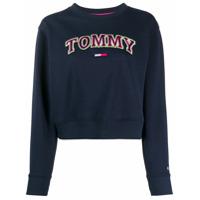 Tommy Jeans Moletom Com Logo Neon - Azul