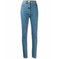 Balmain Calça Jeans Skinny Cintura Alta - Azul
