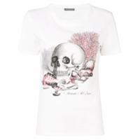 Alexander Mcqueen Camiseta Com Estampa De Caveira - Branco
