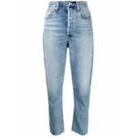 Agolde Calça Jeans Slim Com Efeito Desbotado - Azul