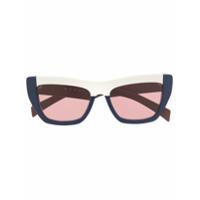 Marni Eyewear Óculos De Sol Color Block - Marrom