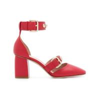 Red Valentino Scarpin De Couro - Vermelho