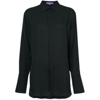 Ralph Lauren Collection Camisa Oversized De Seda - Preto