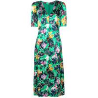 Saloni Vestido Com Estampa Floral - Verde
