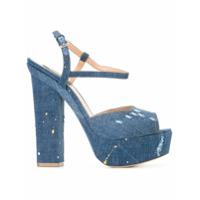 Dsquared2 Sandália De Couro 'ziggy' - Azul