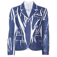 Rohka Blazer Boxy Estampado - Azul