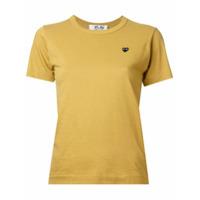 Comme Des Garçons Play Camiseta Com Bordado De Coração - Amarelo