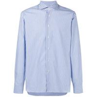 Borriello Camisa Listrada Com Botões - Azul