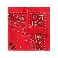 Amiri Bandana de seda - Vermelho