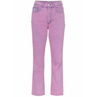 Ashley Williams Calça Jeans Cropped Com Lavagem 'ashley' - Roxo