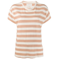 The Great. Striped T-Shirt - Rosa