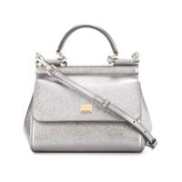 Dolce & Gabbana Bolsa Tote Modelo 'sicily' Pequena - Metálico
