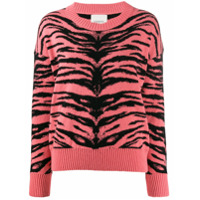 Laneus Suéter Com Listras De Tigre - Rosa