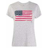 Polo Ralph Lauren Camiseta Com Estampa De Bandeira Usa - Cinza