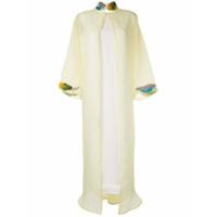 Pose Arazzi Vestido Com Bordado Na Gola - Branco