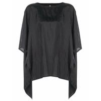 The Celect Camiseta Oversized Assimétrica - Preto