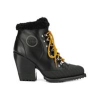 Chloé Ankle Boot Com Cadarço - Preto